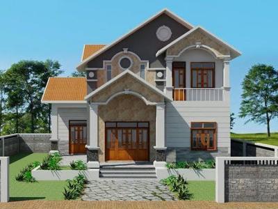 Xây dựng Biệt thự 2 tầng mái thái
