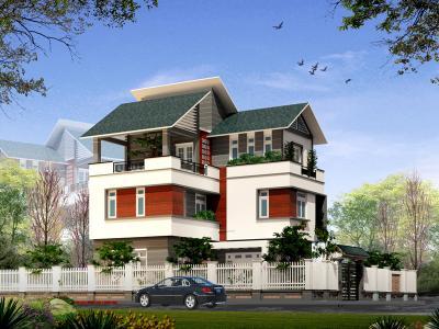Xây dựng Biệt thự 3 tầng mái thái đẹp