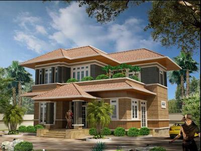 Xây dựng Biệt thự nhà vườn 2 tầng mái thái