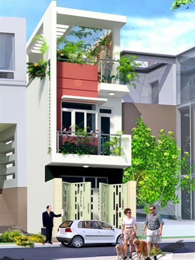Xây dựng Nhà phố 2 tầng 1 tum