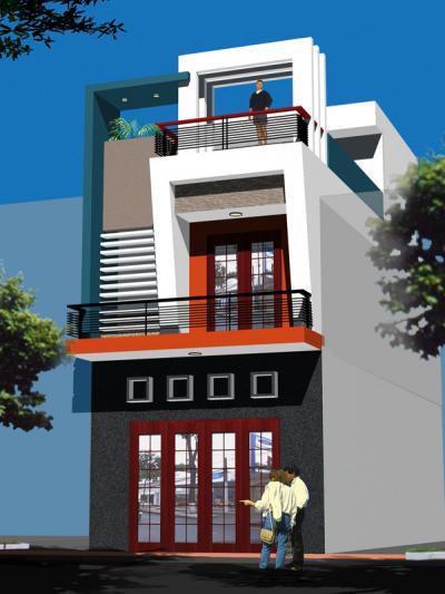 Xây dựng Nhà phố 2 tầng sang trọng