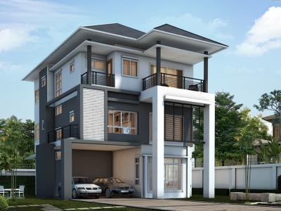 Xây dựng Biệt thự mái thái 3 tầng