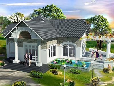 Xây dựng Biệt thự mini sân vườn
