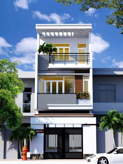 Xây dựng Nhà phố 3 tầng phong cách