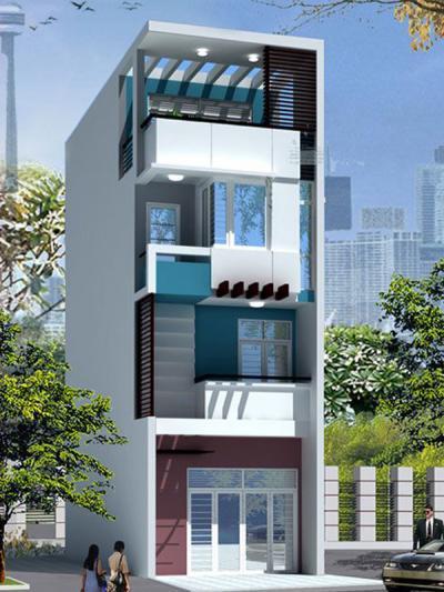 Xây dựng Nhà phố 4 tầng đẹp sang trọng