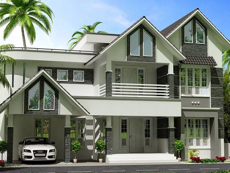 Xây dựng Biệt thự mái thái sang trọng