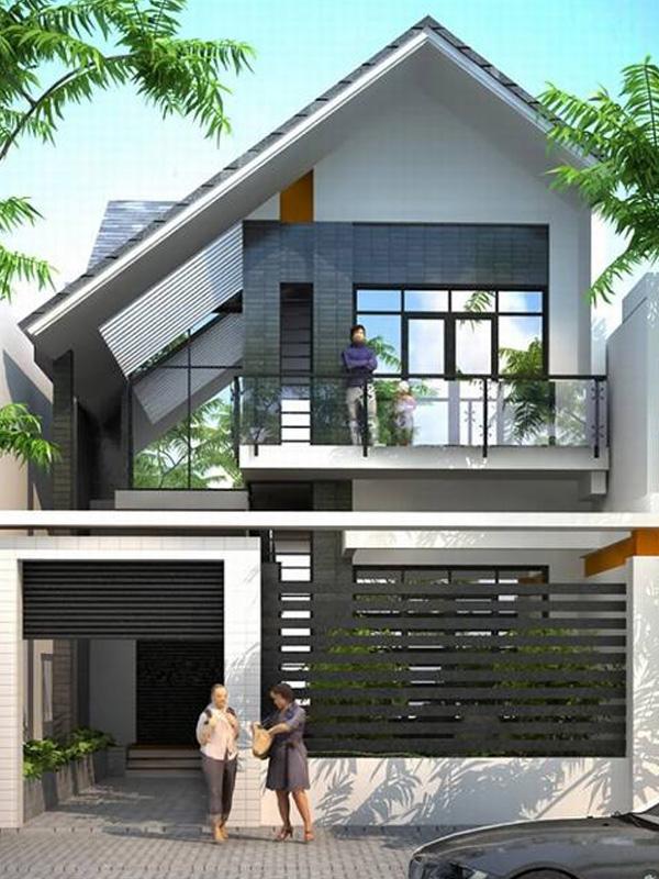 Xây dựng Nhà phố 2 tầng đẹp phong cách